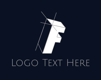 Fabrication - Isometric Letter F logo design