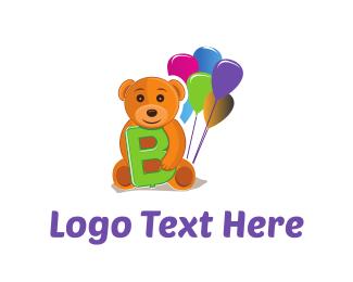 Teddy - Bear Balloons logo design