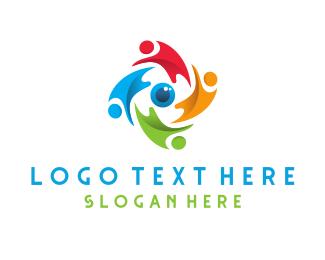 Graphic - People Swirl logo design