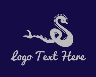 Serpent - Silver Dragon logo design