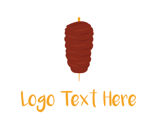Lunch - Meat Kebab logo design