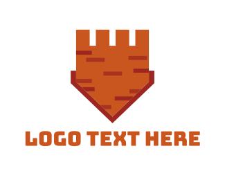 Brick - Castle Shield  logo design