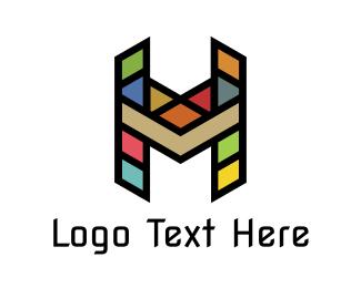 Houston - Mosaic H  logo design