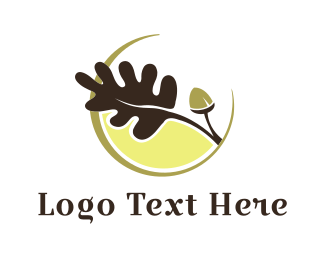Seed - Brown Acorn Branch logo design