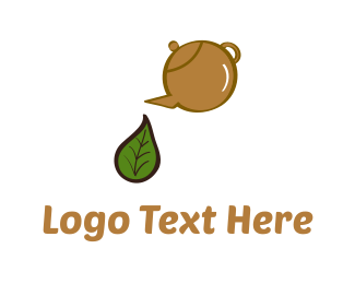 Green And Brown - Herbal Tea logo design