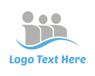 Partnership - Social Blue Wave logo design