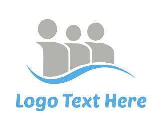 Men - Social Blue Wave logo design