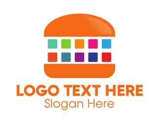 Cheeseburger - Digital Burger logo design