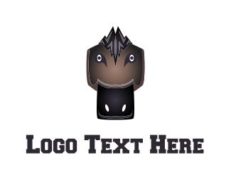 Soccer - Black Duck Mascot logo design