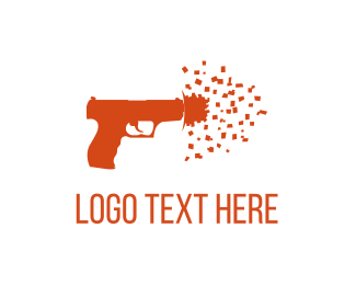 Paintball - Confetti Shot logo design
