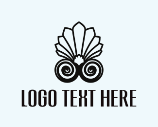 Pearl - Shell Flower logo design