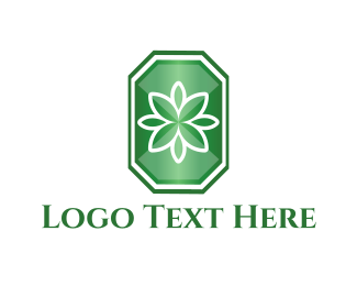 Emerald - Flower Emerald  logo design