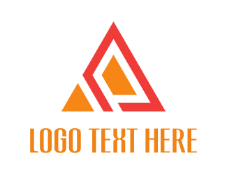 Orange Abstract Triangle Logo
