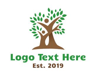 Parenthood - Father & Son Tree logo design