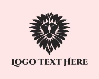 Lion King - Lion Flower logo design