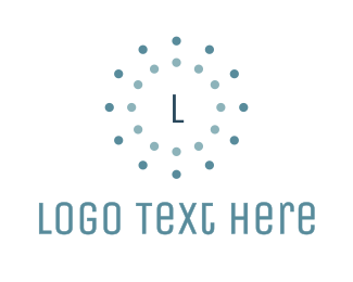 Nail Spa - Circle Dotted Lettermark logo design
