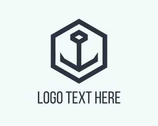 Ship - Black Anchor logo design