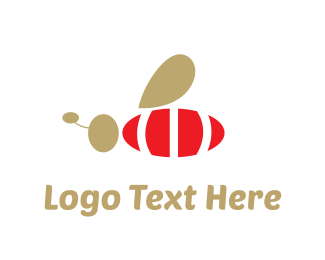 Antenna - Red Bee logo design