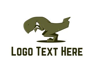 Prehistoric - Tyrannosaurus Rex logo design