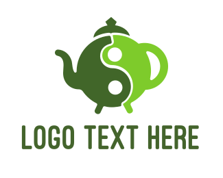 Tea - Yin Yang Green Tea logo design
