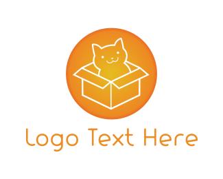 Pet Sitting - Cat Box logo design
