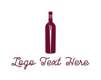Sew - Bottle & Needle logo design