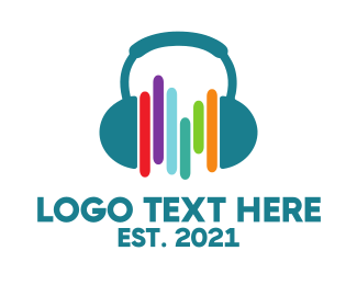 Headset - Headphones & Beats logo design
