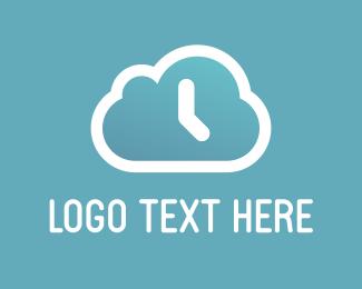 Watch - Cloud Clock logo design