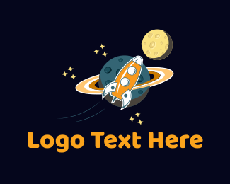 Rocket - Space Rocket  logo design
