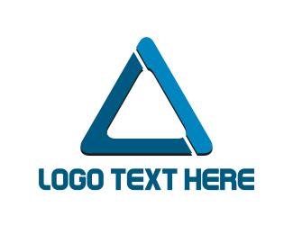 Freezer - Blue Triangle logo design