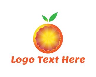 Orange Juice - Modern Orange logo design