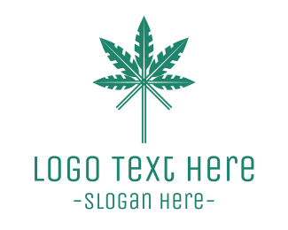 Herb - Arrow Cannabis logo design