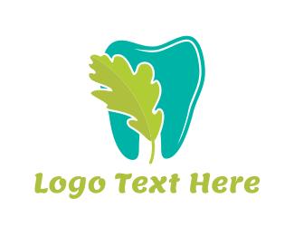 Molar - Leaf & Tooth logo design