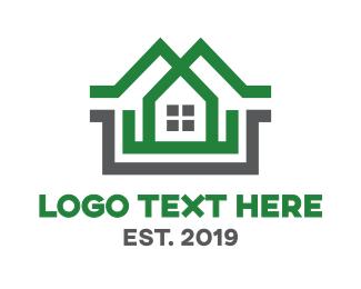 Duplex - Green Duplex House logo design