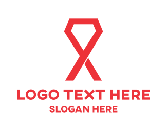 Cancer - Gem Ribbon logo design