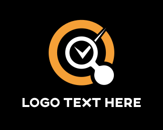 Checkbox - Searcher Circle logo design
