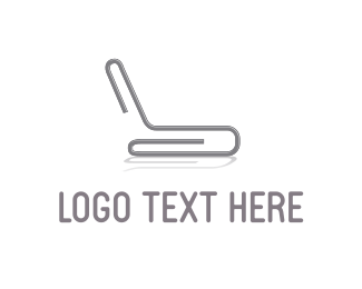 Chair - Grey Paper Clip logo design