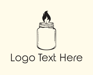 Hipster - Jar Candle logo design