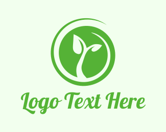Bio - Eco Circle Leaves logo design