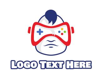 Infant - Baby VR Gaming logo design