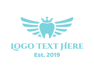 Teeth - Royal Winged Tooth logo design