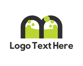 Poison - Toxic Letter M logo design