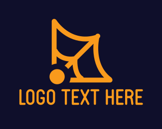 Spider - Orange Web logo design