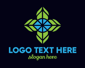 Botanist - Mosaic Flower logo design
