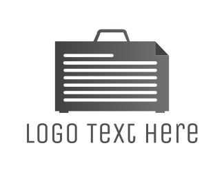 Briefcase - Paper Case logo design