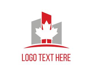 Develop - Maple & Buildings logo design