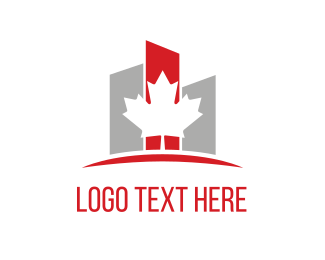 Rental - Maple & Buildings logo design