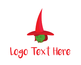 Devil - Green Witch logo design