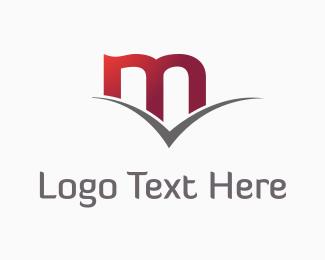 Computing - Red Letter M logo design