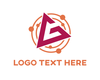 Orbit - Pink Letter G logo design